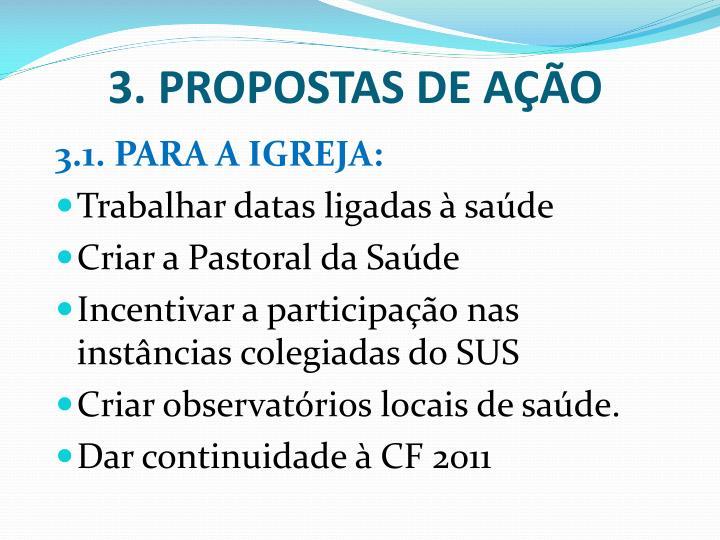 3. PROPOSTAS DE AÇÃO