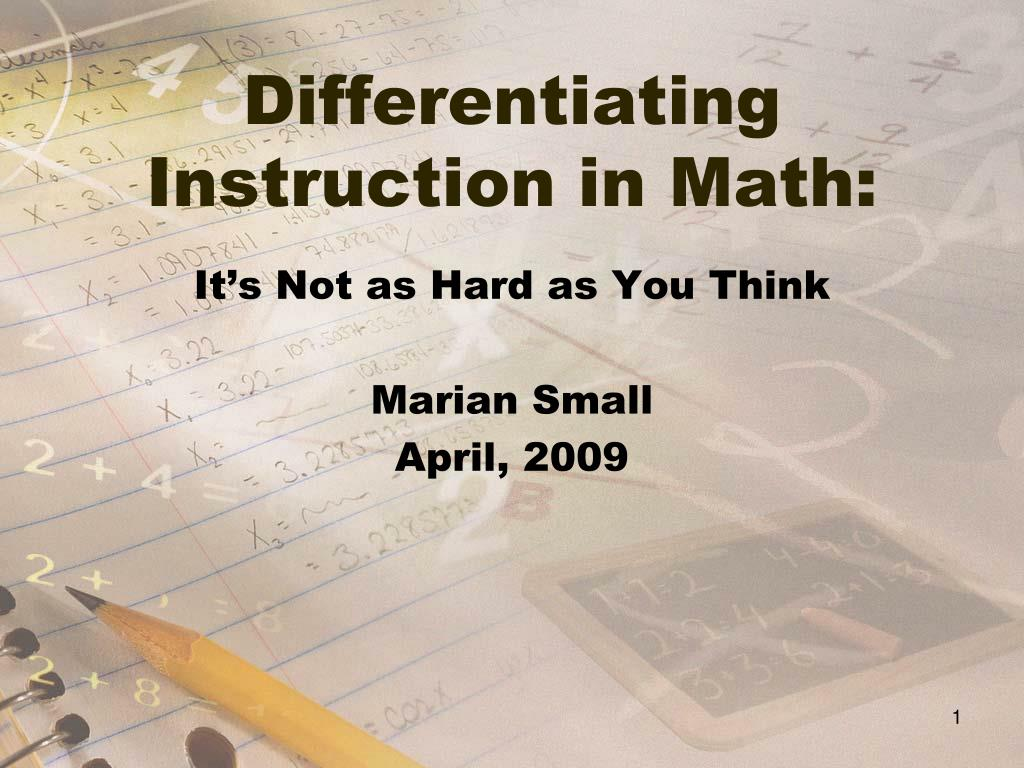 differentiating instruction in math l.