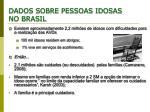 dados sobre pessoas idosas no brasil