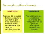 formas de co financiamento