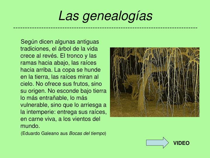 Las genealogías