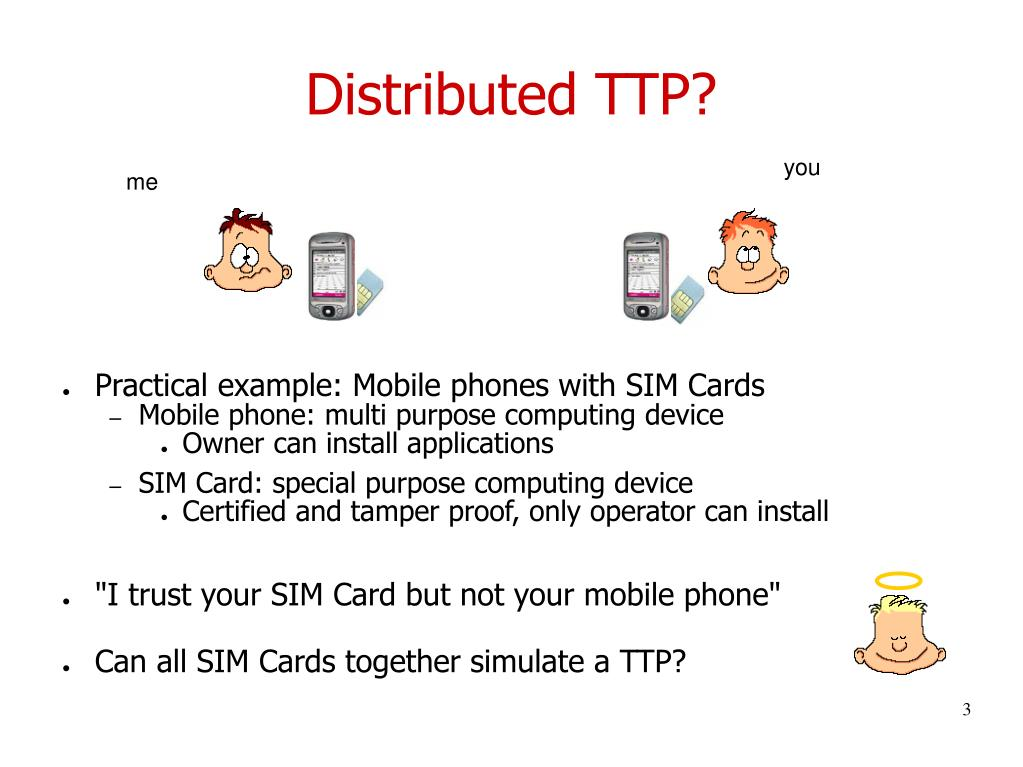 Distributed TTP?