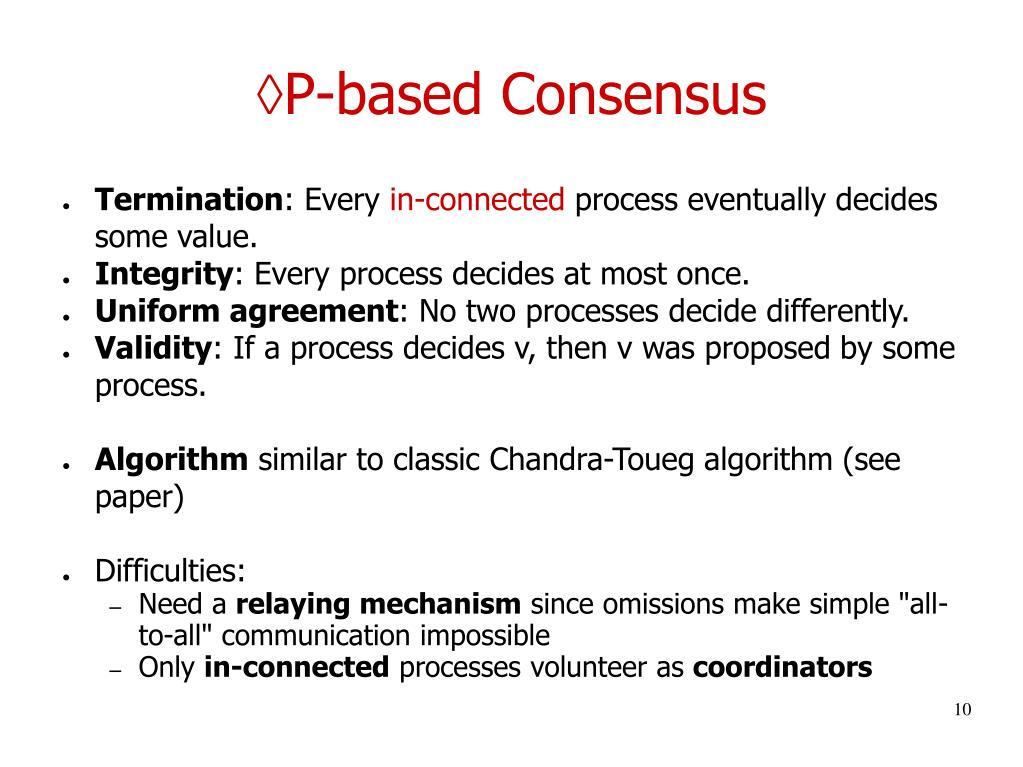 P-based Consensus