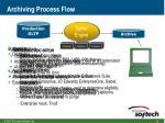 archiving process flow