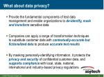 what about data privacy
