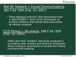 bell atl network v covad communications 262 f 3d 1258 fed cir 2001