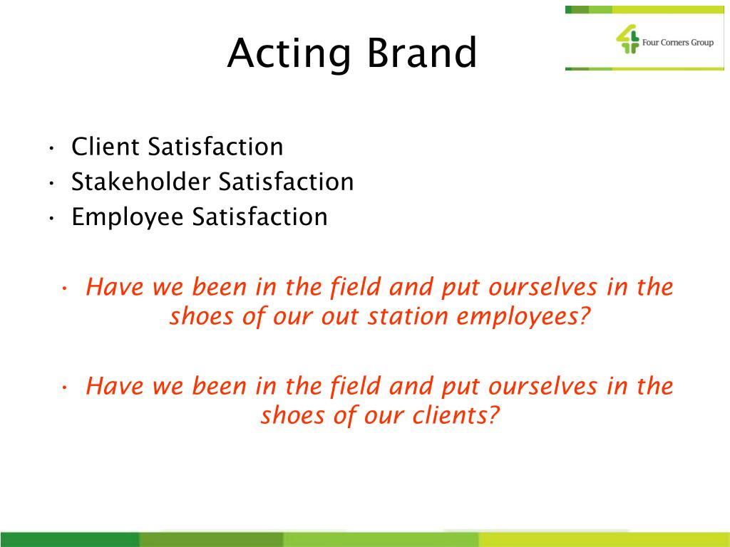 Acting Brand