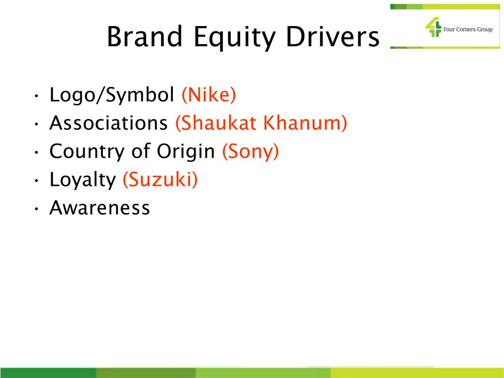 Brand Equity Drivers