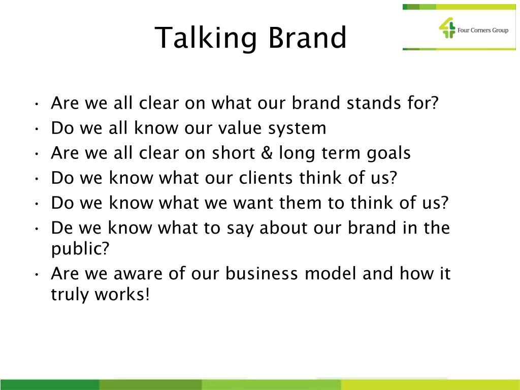 Talking Brand