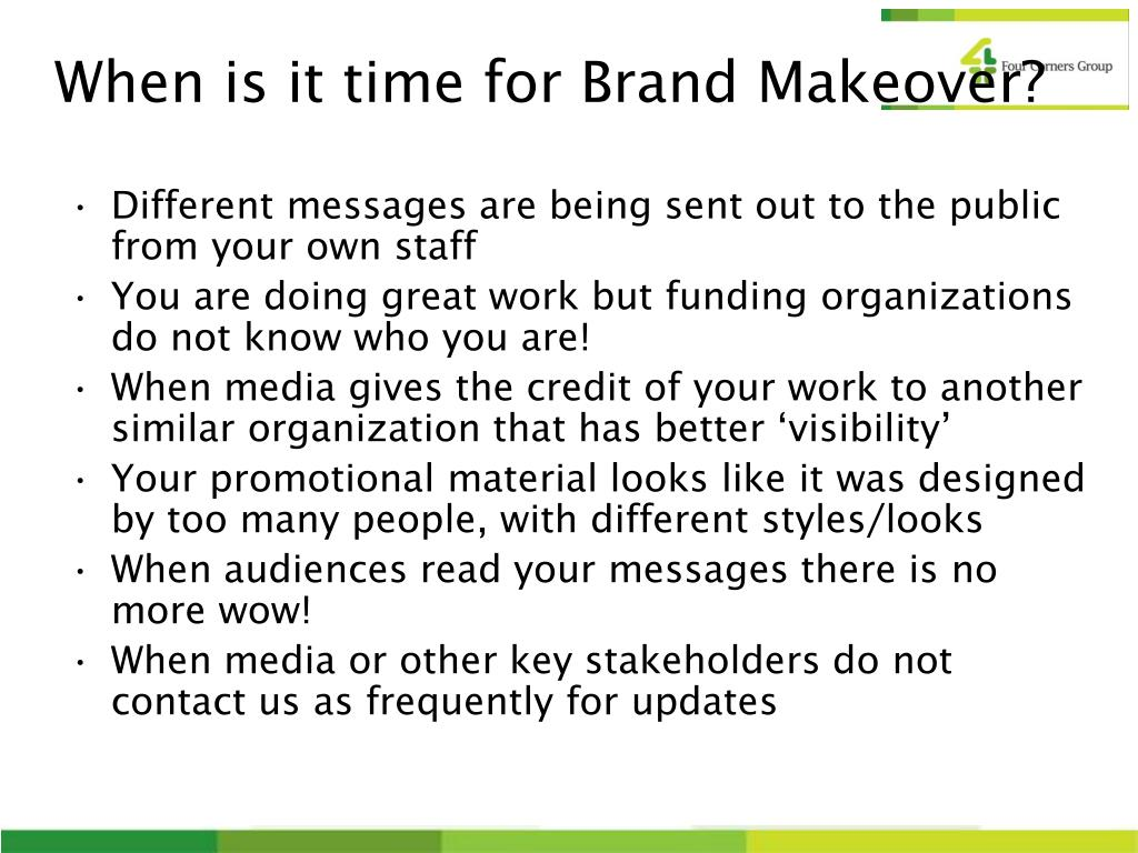 When is it time for Brand Makeover?