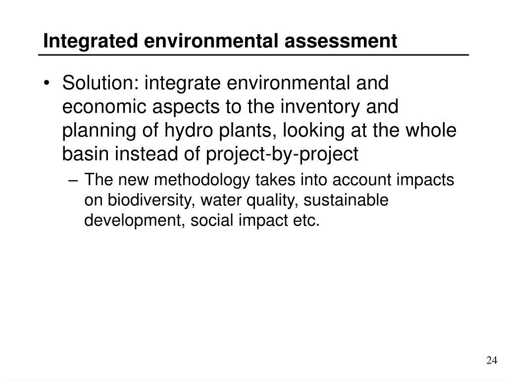 Integrated environmental assessment