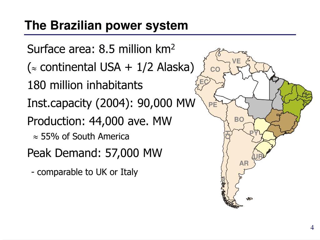 The Brazilian power system