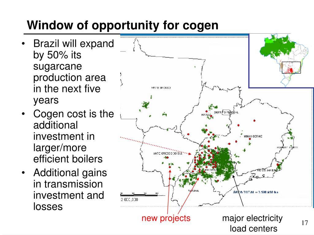 Window of opportunity for cogen