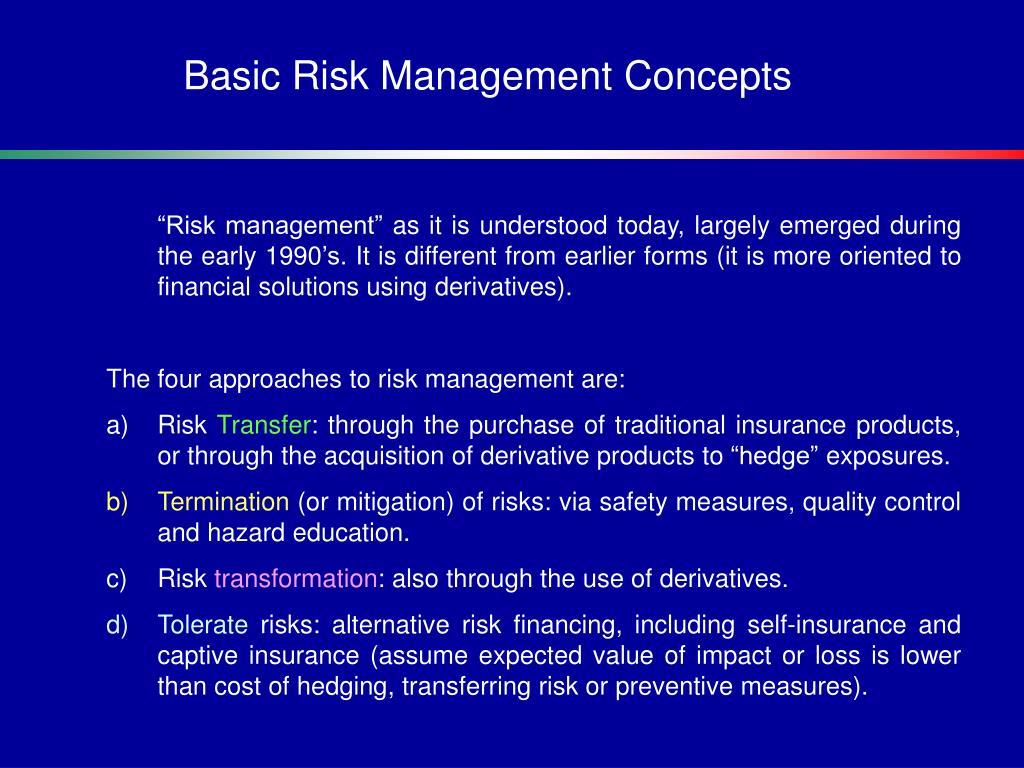 Basic Risk Management Concepts