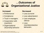 outcomes of organizational justice1