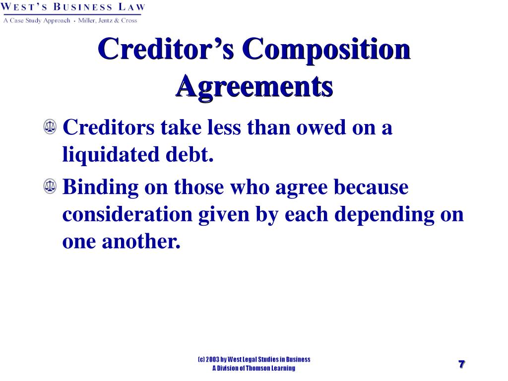 Creditor's Composition Agreements