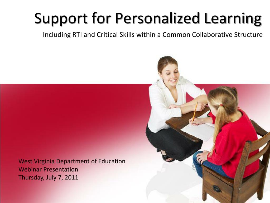 support for personalized learning l.