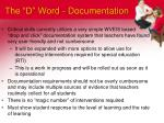 the d word documentation