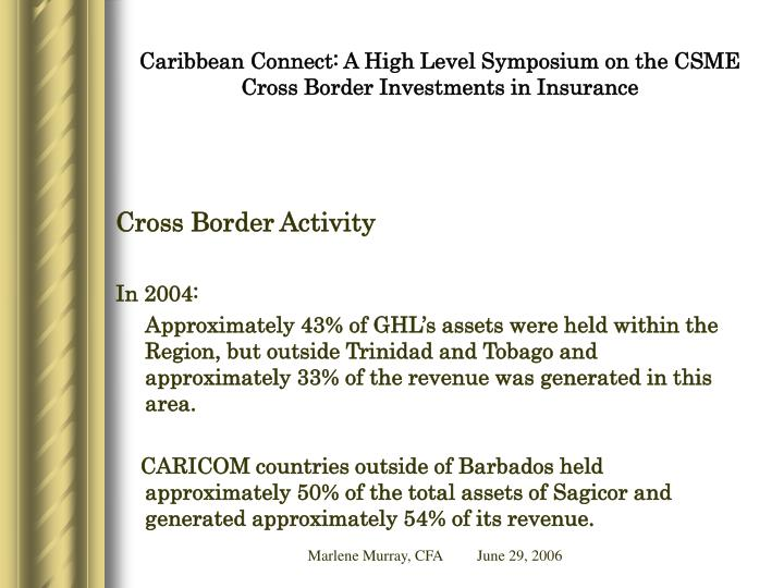 Caribbean connect a high level symposium on the csme cross border investments in insurance