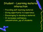 student learning material interaction