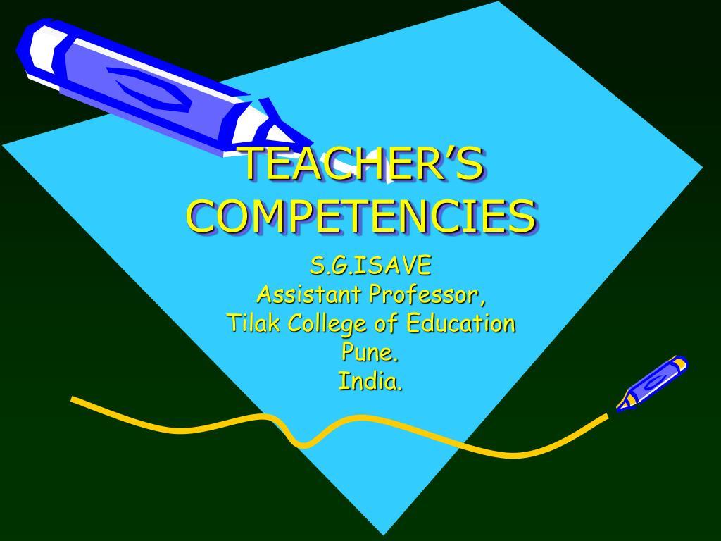 teacher s competencies l.