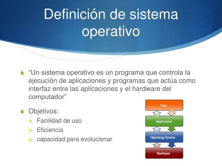 Definici n de sistema operativo