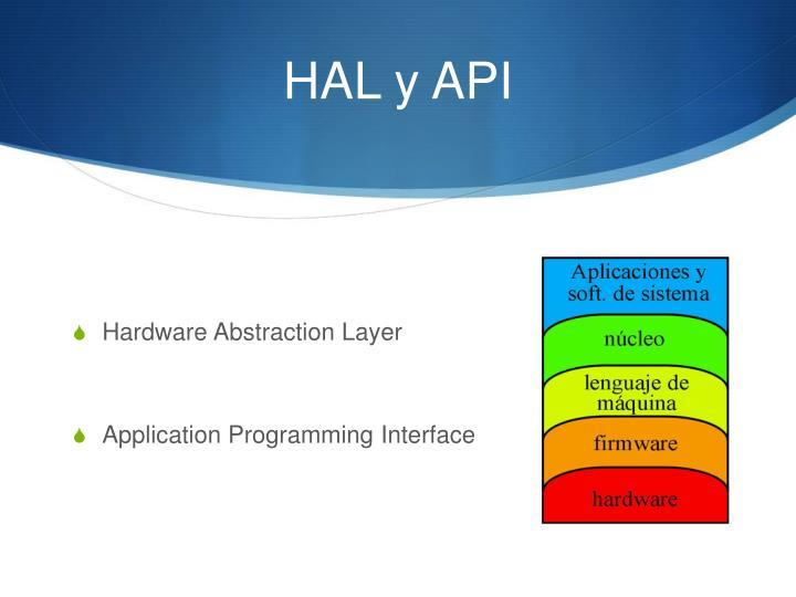 HAL y API
