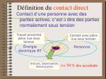 d finition du contact direct
