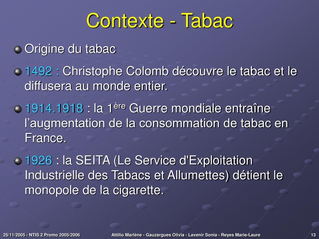 Contexte - Tabac