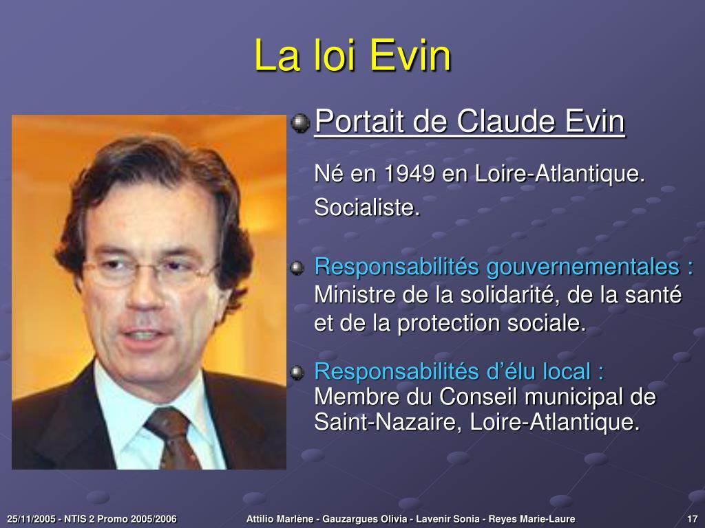La loi Evin