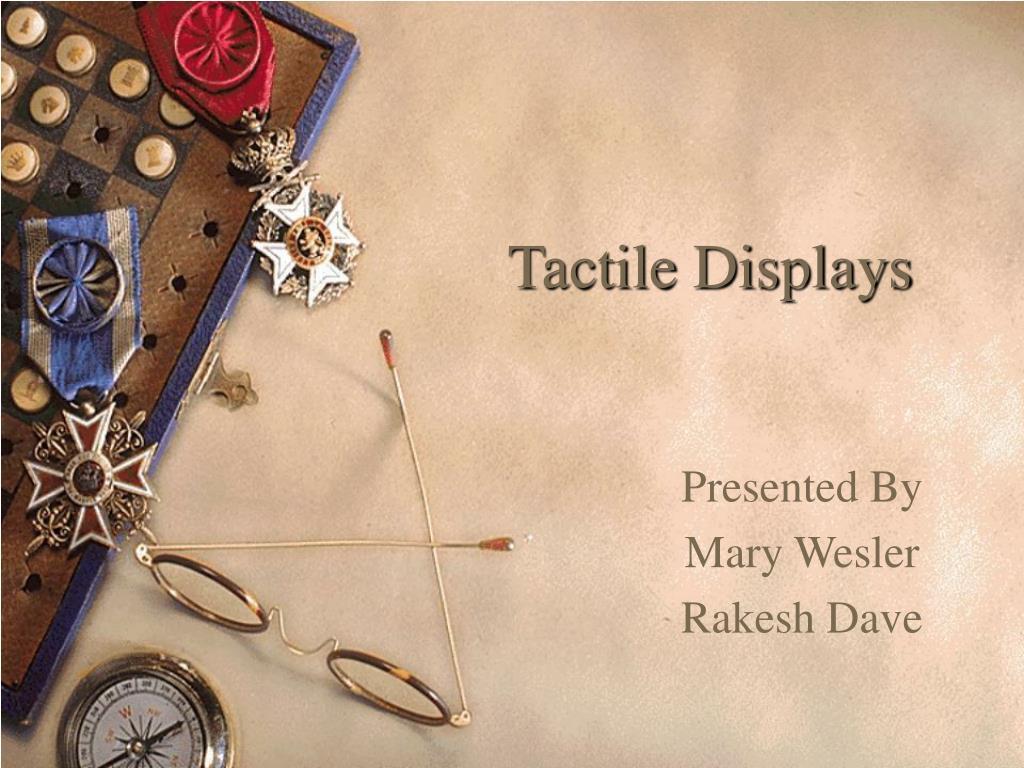 tactile displays l.