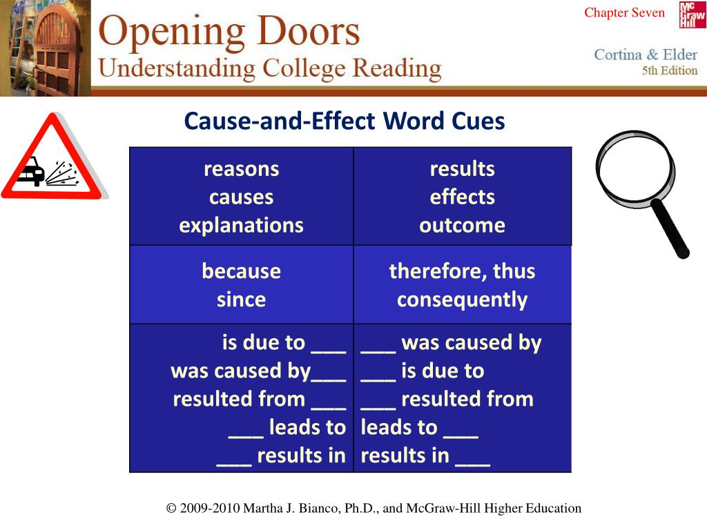 Cause-and-Effect Word Cues