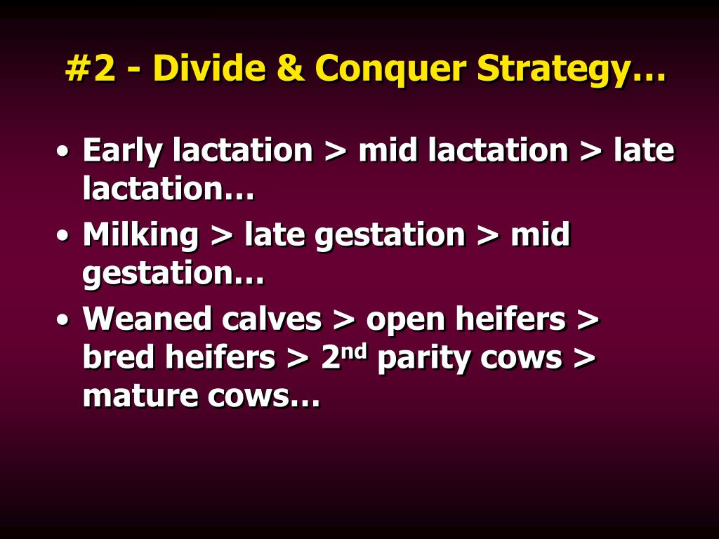 #2 - Divide & Conquer Strategy…