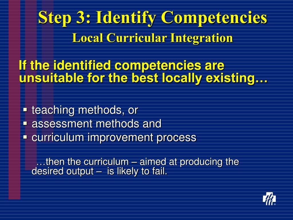 Step 3: Identify Competencies