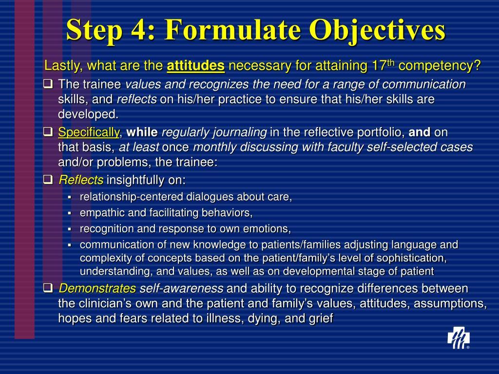 Step 4: Formulate Objectives