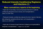 reduced intensity conditioning regimens and infections 1