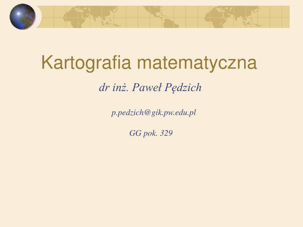 kartografia matematyczna l.