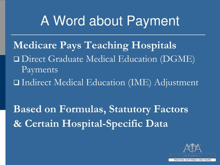 A Word about Payment