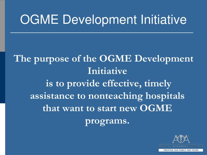Ogme development initiative1
