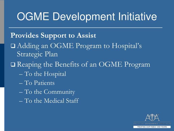 OGME Development Initiative