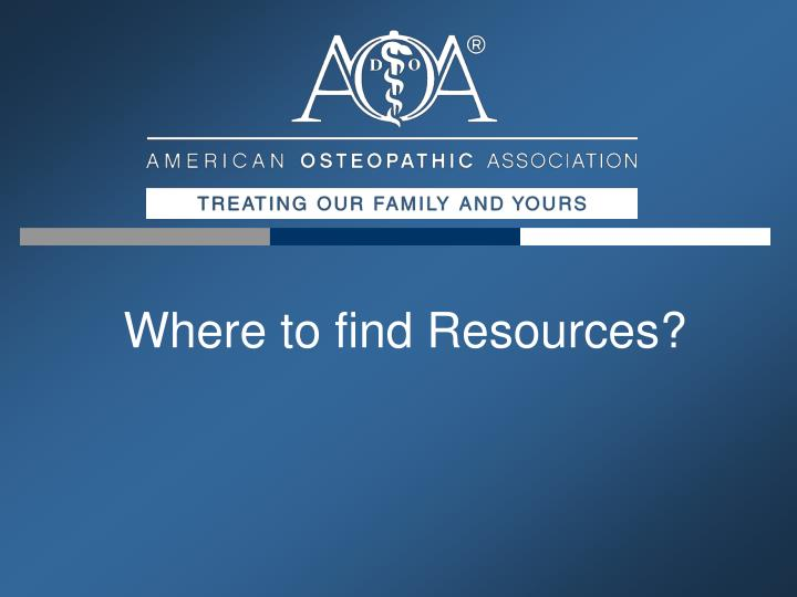 Where to find Resources?