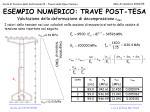 esempio numerico trave post tesa