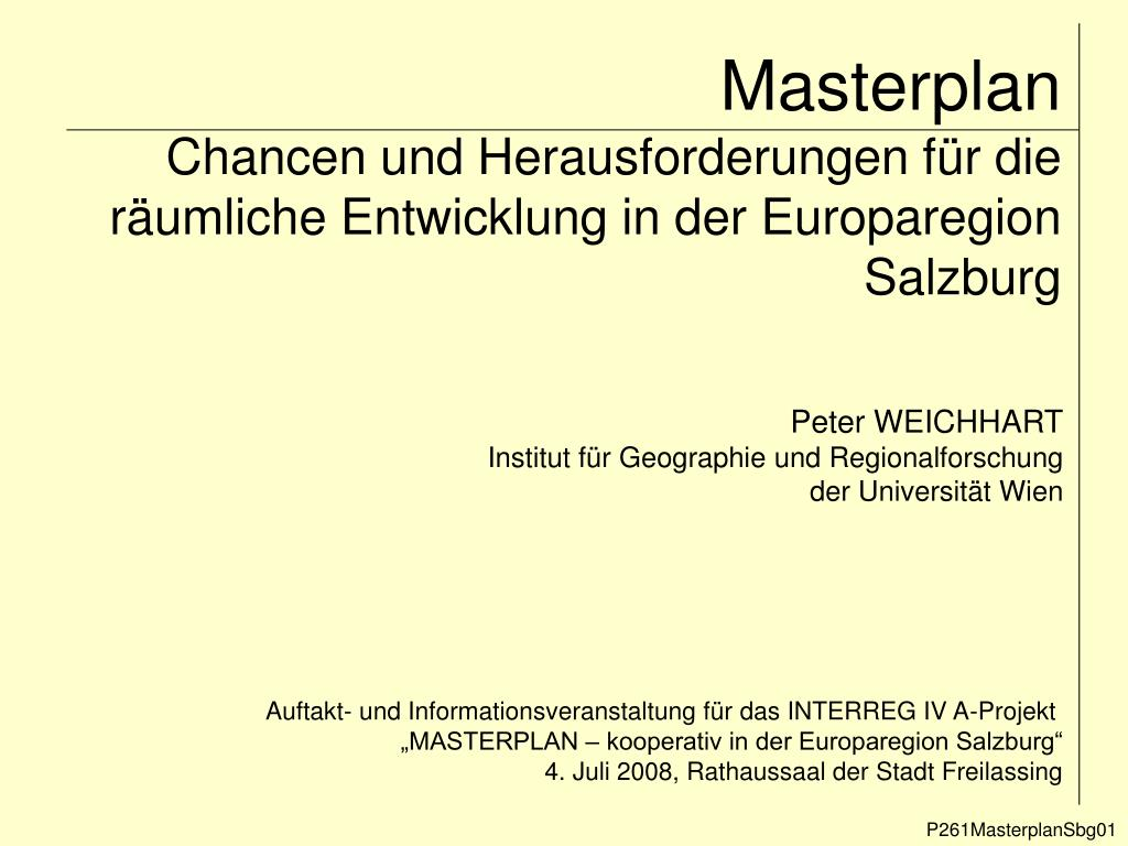 masterplan chancen und herausforderungen f r die r umliche entwicklung in der europaregion salzburg l.