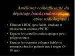 am liorer co t efficacit du d pistage lourd endoscopique et ou radiologique
