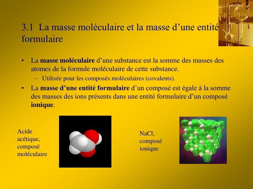 Acide acétique, composé moléculaire