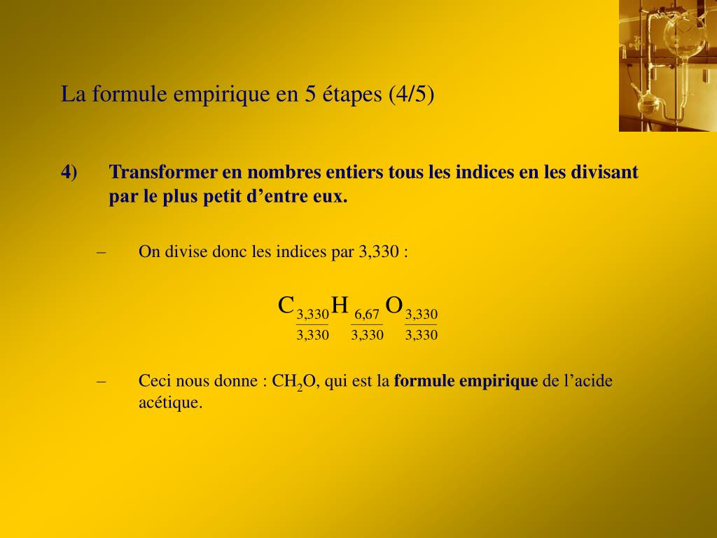 La formule empirique en 5 étapes (4/5)