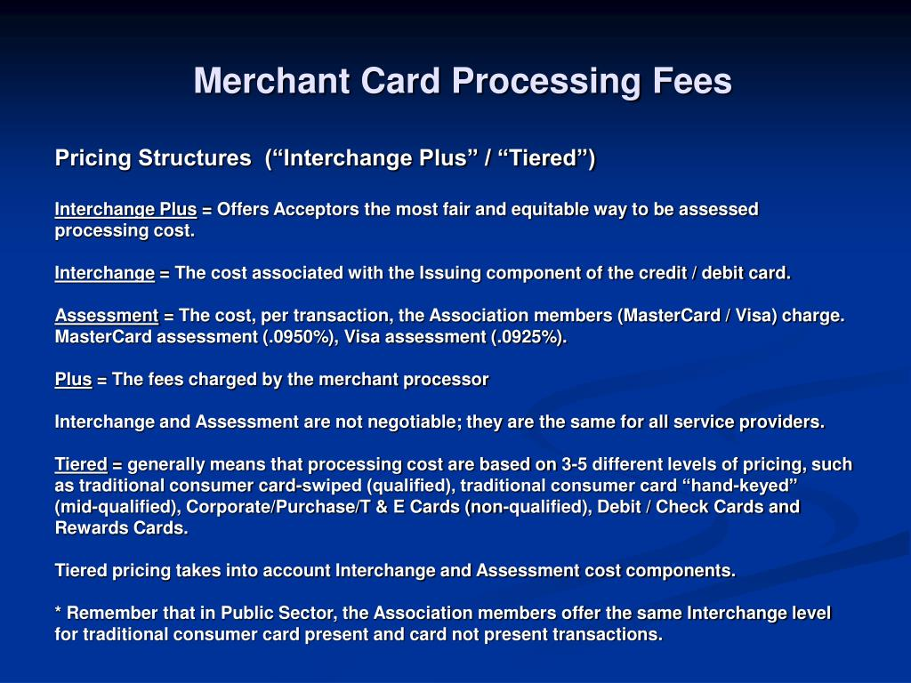 Merchant Card Processing Fees