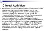 clinical activities