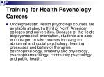 training for health psychology careers27