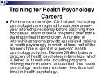 training for health psychology careers29